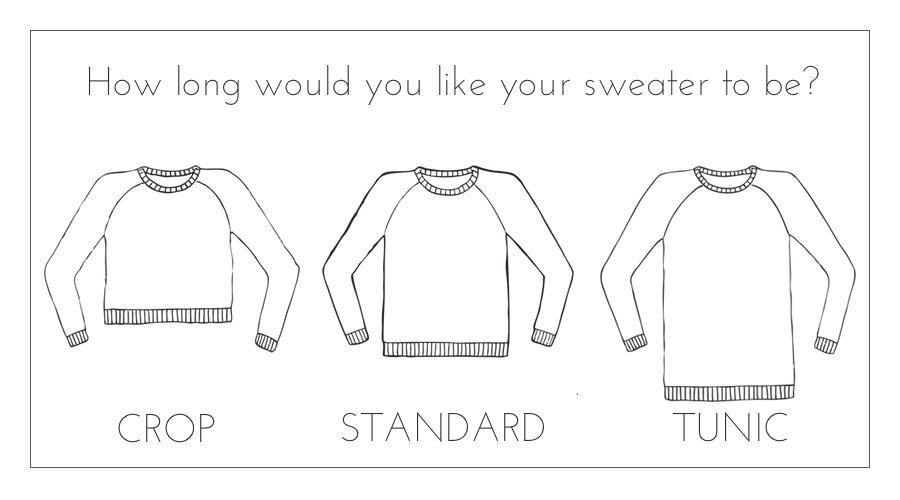 sweater design length