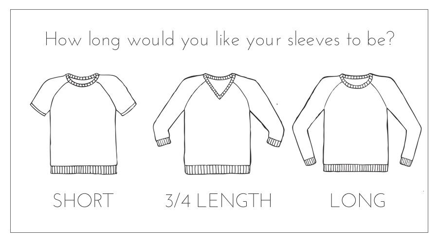 sweater design sleeve length