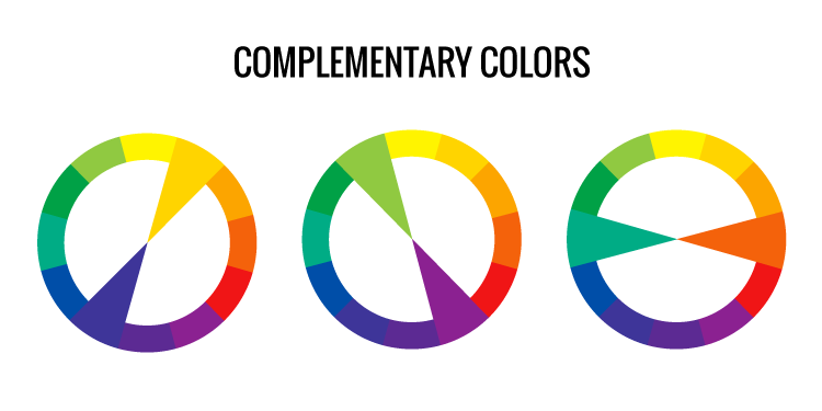 Complementary colors, color wheel, color scheme