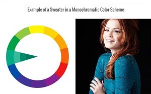 Monochromatic colors, color scheme, color wheel