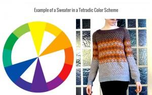 Tetradic colors, color scheme, color wheel