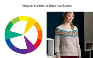 Triadic colors, color scheme, color wheel