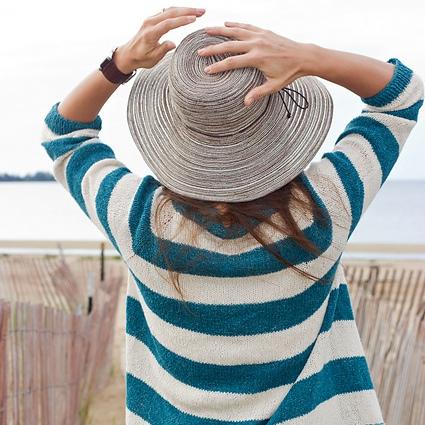 simple striped sweaters, pattern, knitting, women