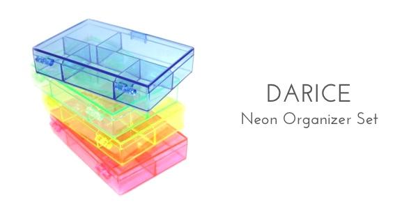 darice neon set organization