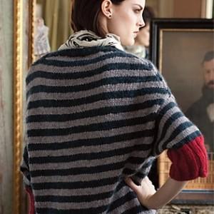 simple striped sweaters, pattern, knitting, womens
