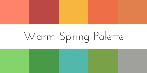 color analysis warm spring palette