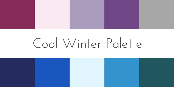 cool winter color analysis palette