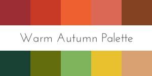 warm autumn color palette color analysis