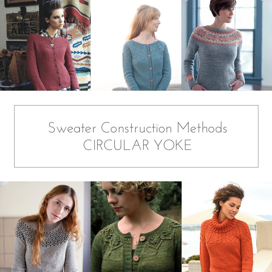 sweater construction circular yoke