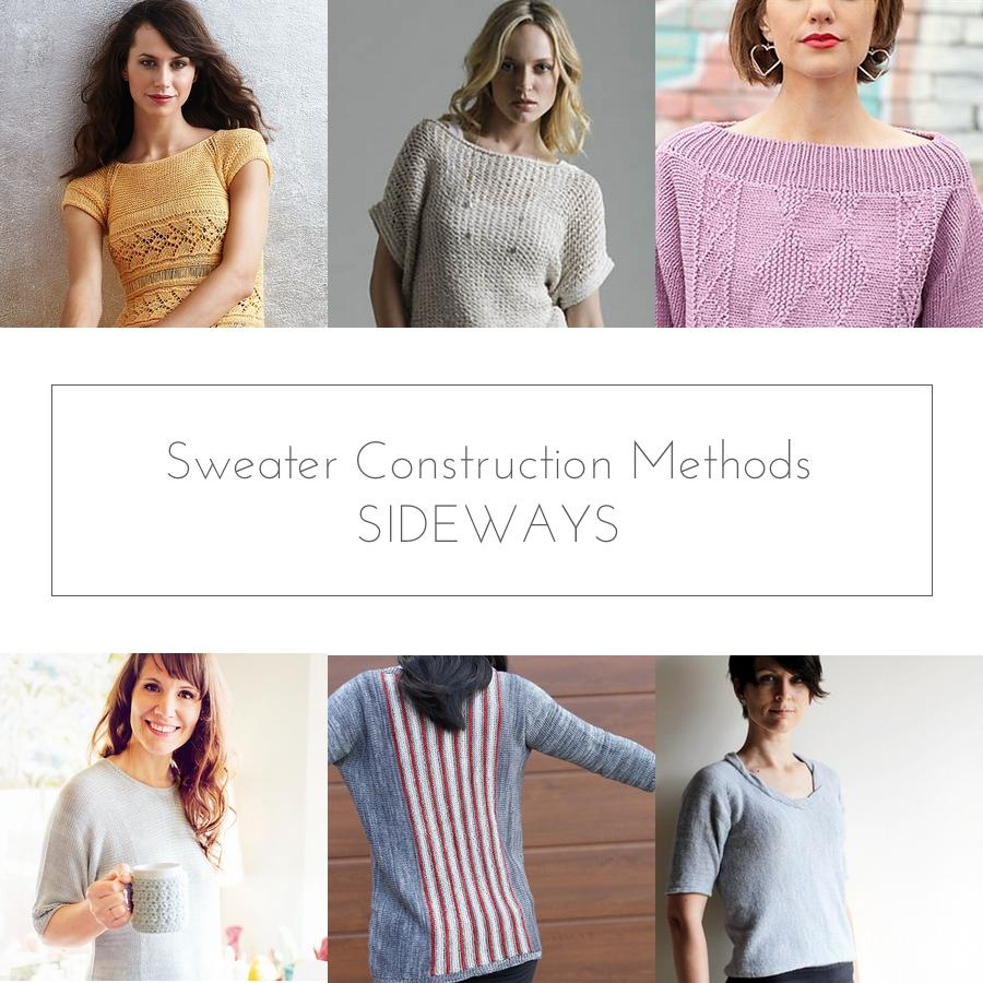 sideways sweater construction