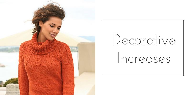 yoked sweater decorative increases