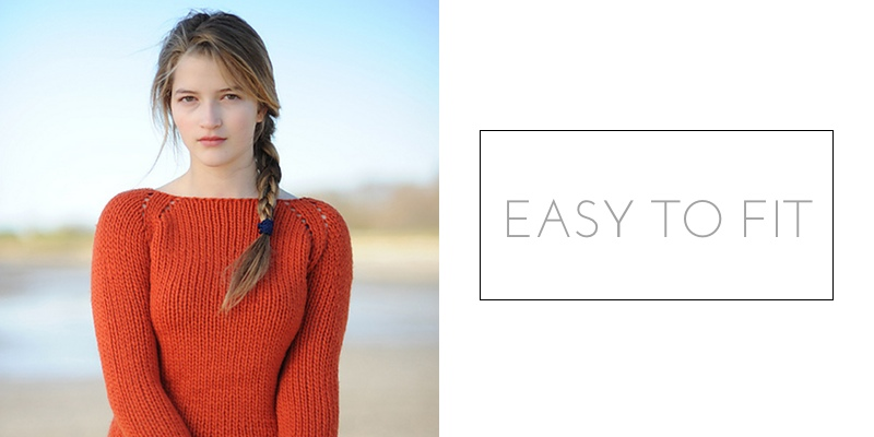 raglan construction easy to fit